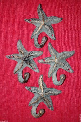 (4) Bronze Look,  Starfish,  Wall Hooks,  Sea Life,  Christmas Gift,  Woman N - 24 photo
