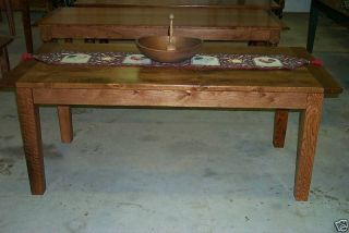 Oak Harvest Dining Table Rustic Primitive Country Farmhouse Reclaimed Salvaged photo