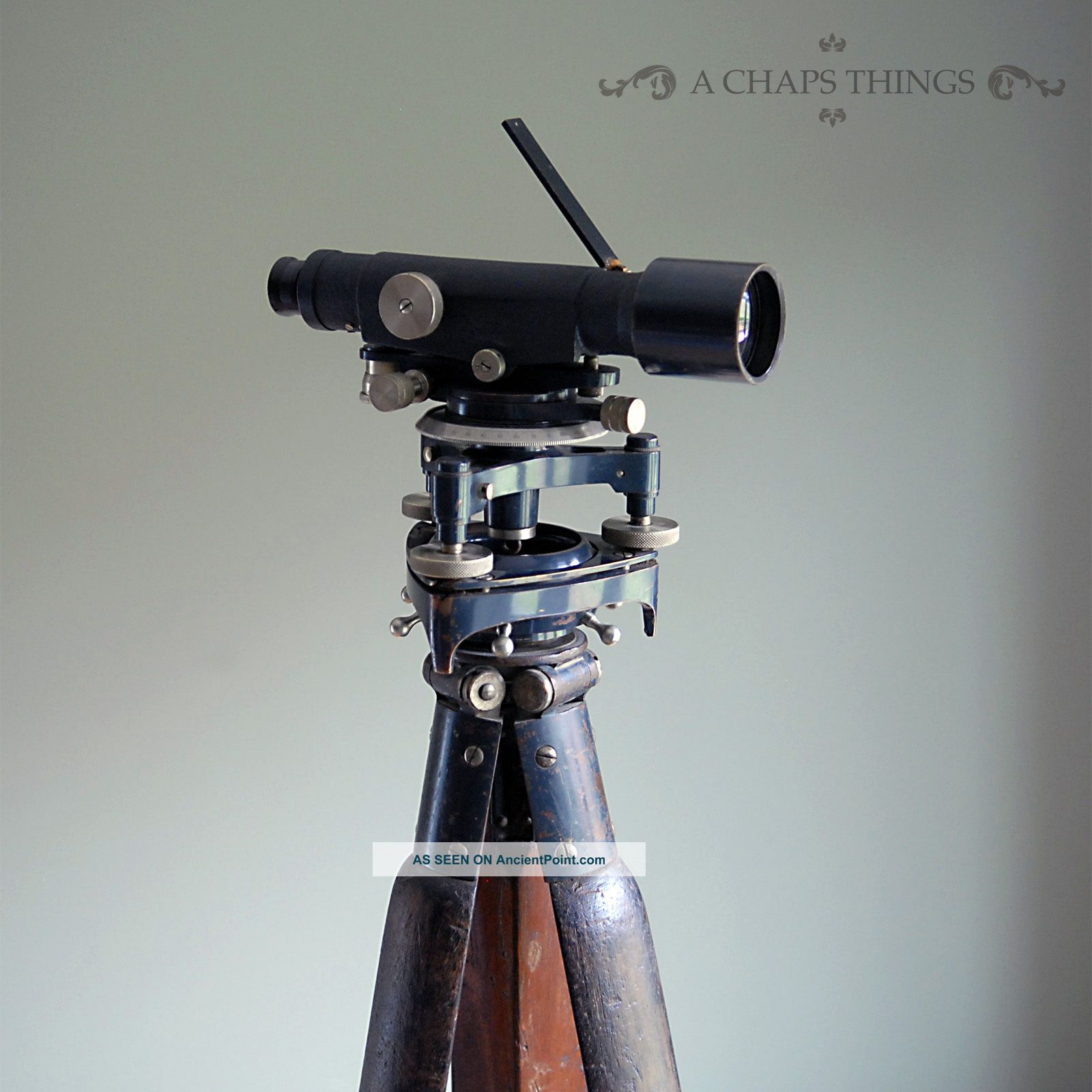 Vintage Stanley Surveyors Level & Tripod.  Theodolite Boxed Scientific Instrument Other photo