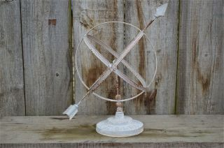Classic Antique Style Wrought Iron Armillary Sphere Sundial Garden Sculpture photo