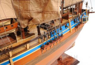 Hms Bounty Wooden Tall Ship Model Sailboat 37