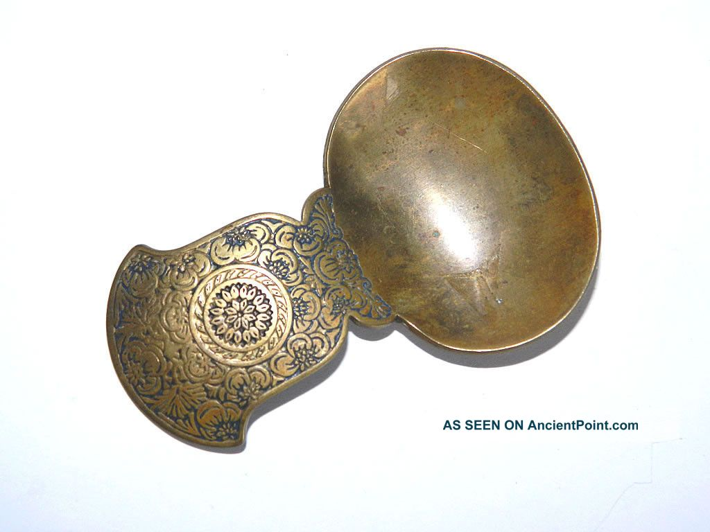 Edwardian Apothecary Herb Scoop Spoon Brass,  Art Nouveau Kinco England,  Ca.  1900 Other photo