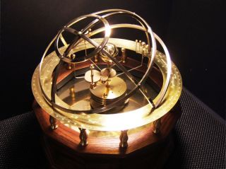 Grand Orrery - - 9 Planet Model In Your Choice: Semi - Precious Stone Or Brass photo