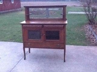 Antique Oak Sideboard photo