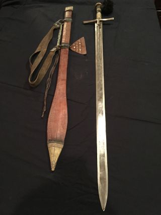 Kaskara North East African Sword And Scabbard photo