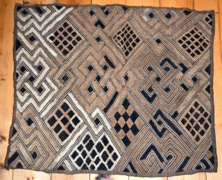 Antique Kuba Cloth Fabric Traditional Money From The Congo,  Africa photo