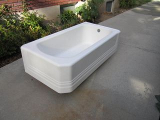 Vintage 1941 Full Skirt American Standard Bath Tub photo