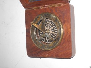 Brass Antique Sundial Compass - Sundial Astrolabe Survey Instrument Gift photo