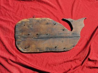1800 ' S Antique Wood,  Trade Sign Whale Oil Whaling Sign Primitive Old Early Sign photo