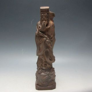 Chinese Chen Xiang Wood Hand - Carved Statue - - - God For Caoguojiu photo