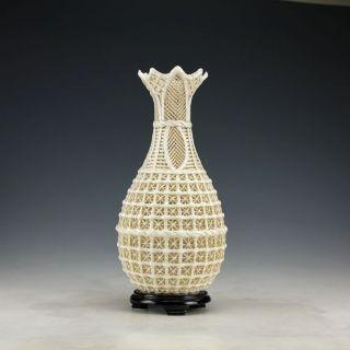 Chinese Vintage Dehua Handwork Porcelain Rare Vase photo