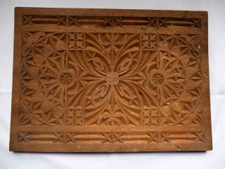Decorative Carved Wooden Panel Architectural/oriental Mahogany photo
