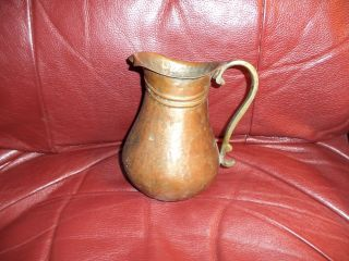 Hand Forged Copper Water Pitcher,  Age Unknown,  Vg - Vg, photo