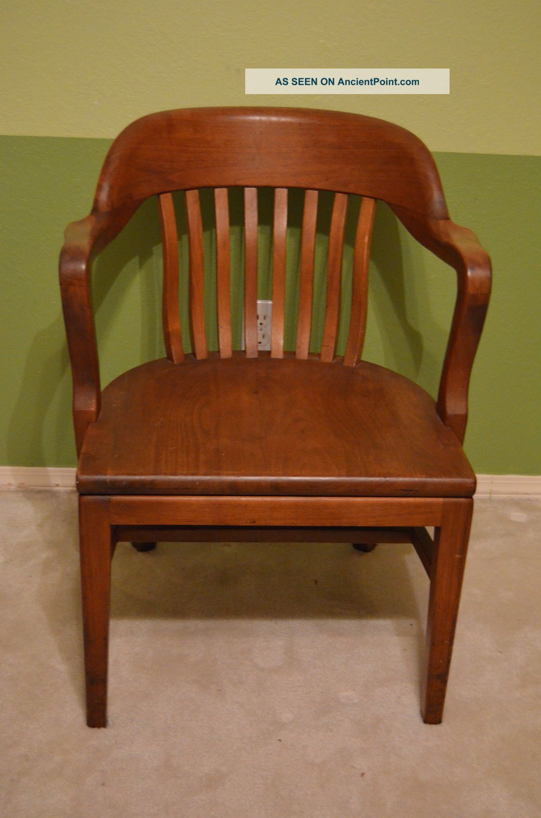 Antique W H Gunlocke Co. York Jury / Bankers Chairs Photo