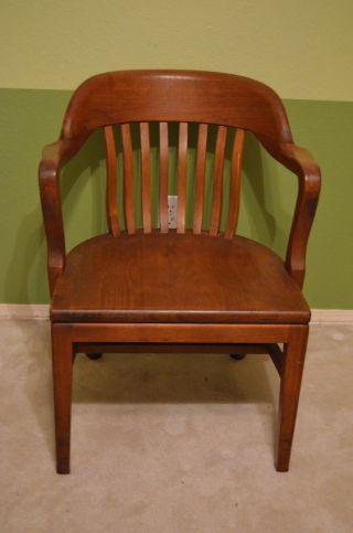 Antique W H Gunlocke Co.  York Jury / Bankers Chairs photo