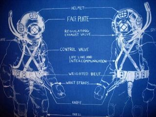Us Navy Mark V Diving Helmet 1943 Blueprint Plan 18