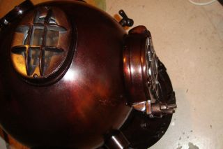 Metal Nautical Collectable Full Size 18 Inch Diver Helmet (czdh) photo