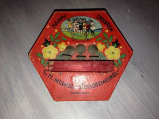 Antique German Toy Accordion Happy Children C.  H.  Meinel - Schlossmeinel 263196 photo