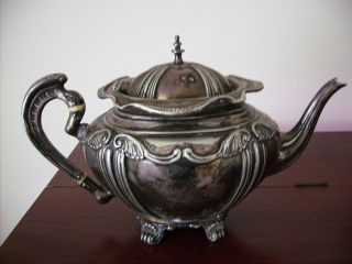 Electro Plated Nickel Silver Teapot, photo