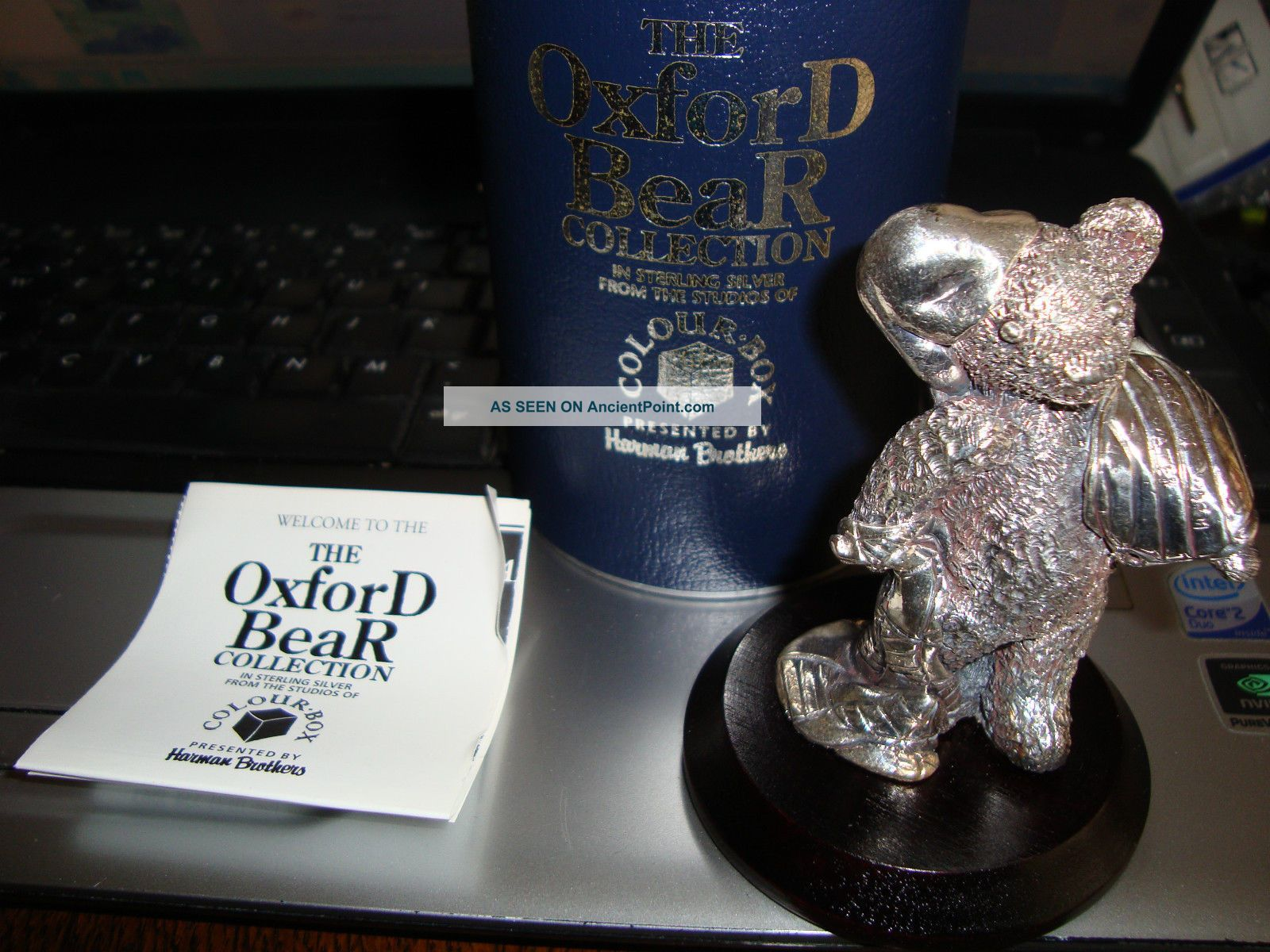 English Hallmarked Silver Teddy Bear Boxed Bedtime Other photo