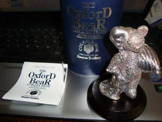 English Hallmarked Silver Teddy Bear Boxed Bedtime photo