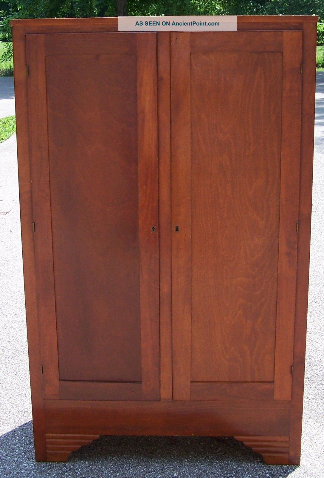 Wood Gun Cabinet With Key - It Will Lock Post-1950 photo