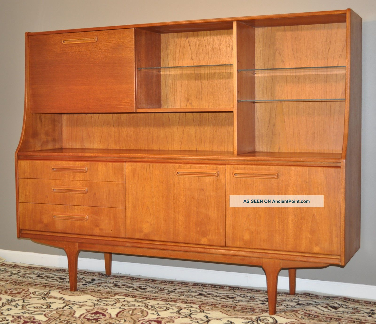 Attractive Large Vintage Retro 1960/70 ' S Teak Credenza Sideboard Buffet Hutch Post-1950 photo