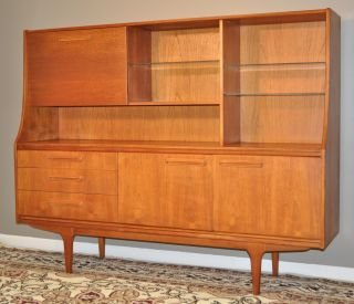 Attractive Large Vintage Retro 1960/70 ' S Teak Credenza Sideboard Buffet Hutch photo