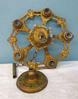 Antq Art Deco Cast Ceiling Chandelier Light Fixture For Restoration Lamp Parts photo