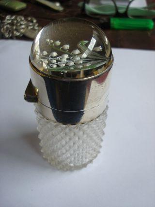 Asprey Solid Silver Mounted Essex Crystal Scent Bottle Leuchars Geffroy 1899 photo