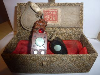 Oriental Antique Boxed Stamp / Seal photo