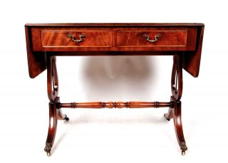 Antique Mahogany Sofa Table Mahogany Wash Stand Console Side Table English photo