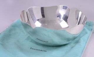 Tiffany & Co.  Makers Sterling Silver Large Scalloped Bowl In Pouch photo