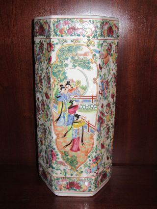 Antique Chinese Porcelain Famille Rose Vase Estate Find Marked photo