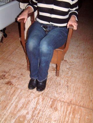 Vintage Commode Potty Toilet Seat Primitive Antique Chamber Pot Wooden Chair photo