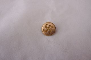 Antique Swastika Good Luck Pin Early 1900s Era Brooch Gold photo