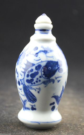 Chinese Collectible ceramics High temperature color glaze porcelain snuff Bottle