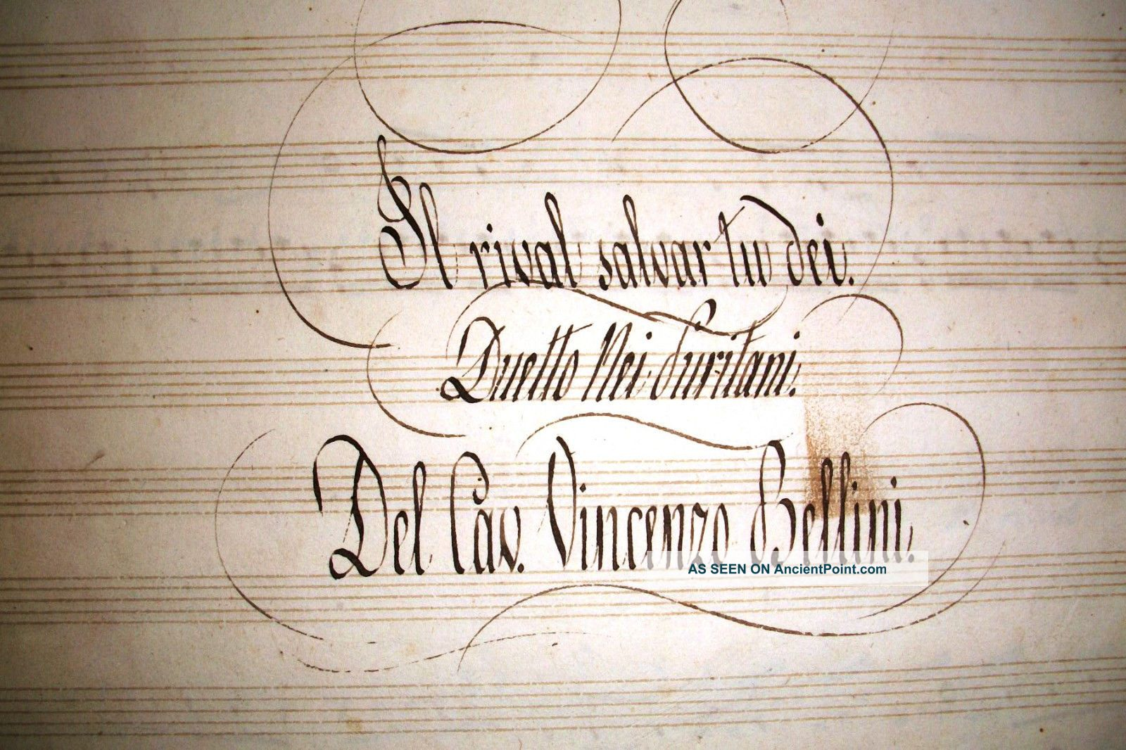 Very Rare Manuscript Music Score For Piano From