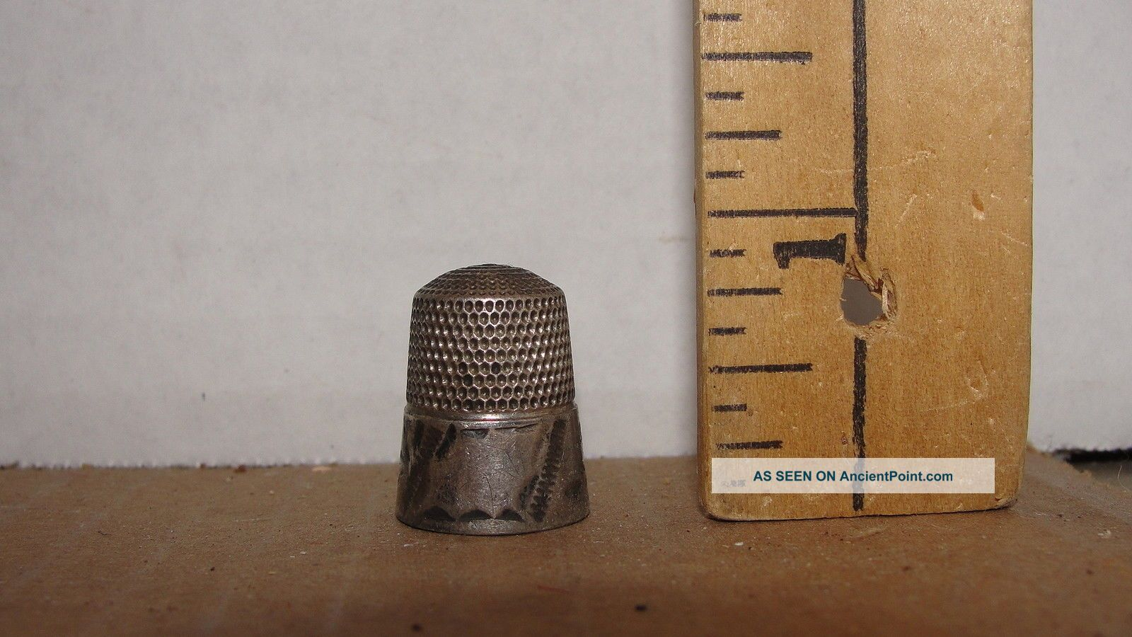 Vintage Sterling Thimble Thimbles photo
