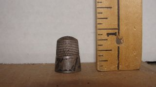 Vintage Sterling Thimble photo