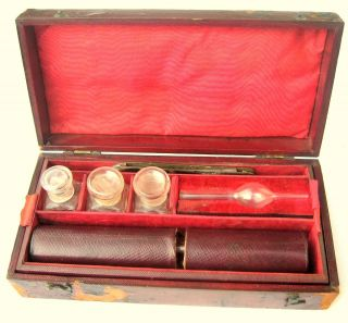 Antique Medical Apothecary Diabetes Testing Kit Victorian. photo