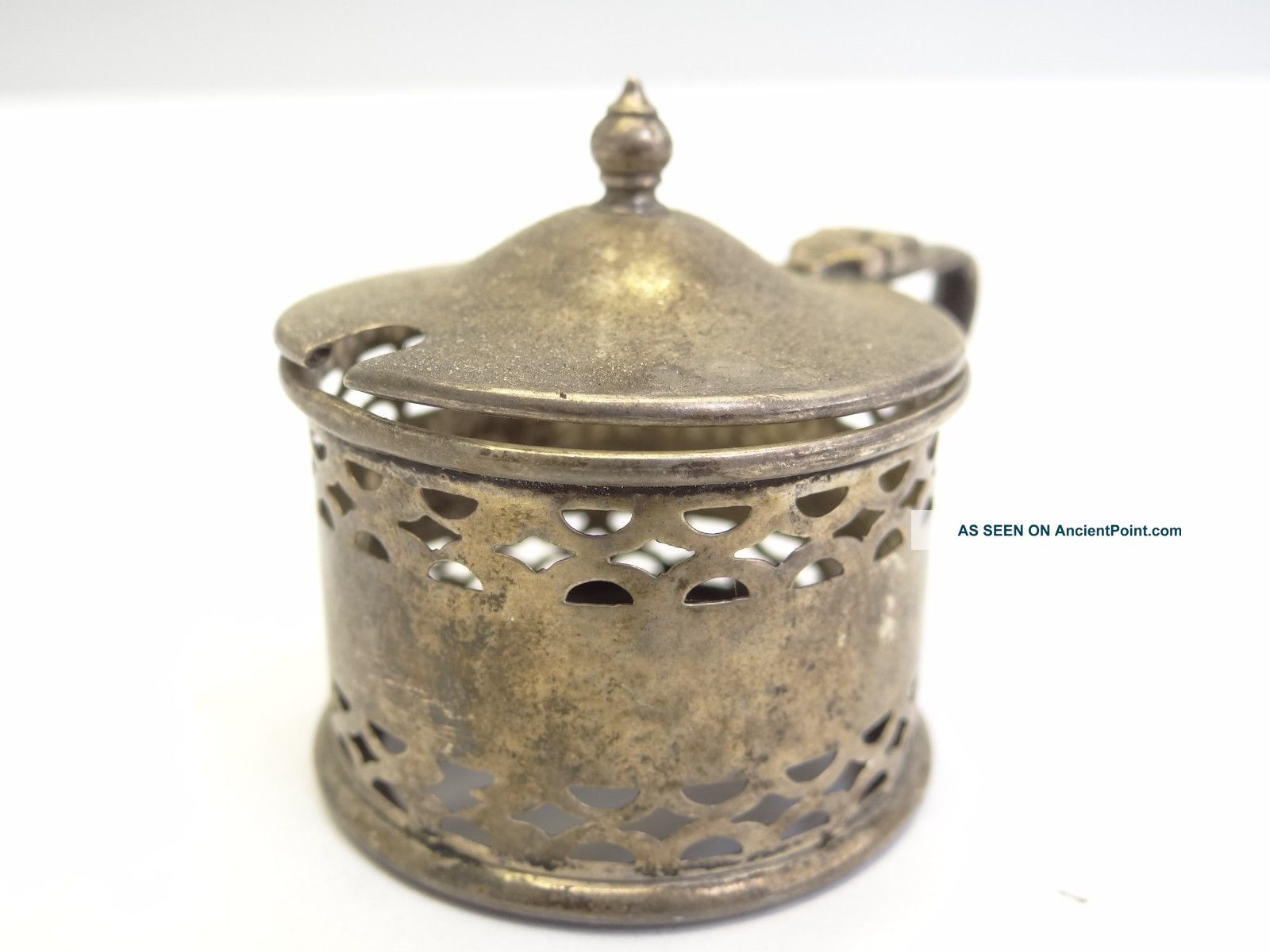 Antique Hallmarked Sterling Silver Condiment Sugar Service Container Cage Caddy Other photo