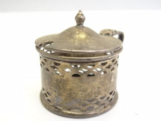 Antique Hallmarked Sterling Silver Condiment Sugar Service Container Cage Caddy photo