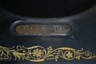 Antique Vintage 1926 Singer Sewing Machine Serial Ab333386 photo