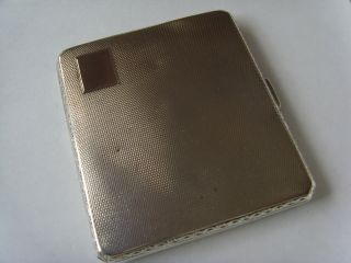 Art Deco Solid Silver Cigarette Case Dated 1930 photo