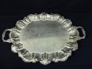 International Silver Company Footed Two Handled Serving Tray photo