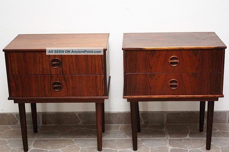 Very Rare Vintage Rosewood Bedside Tables - Danish 1960 ' S - Mid Century 20th Century photo