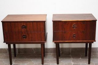 Very Rare Vintage Rosewood Bedside Tables - Danish 1960 ' S - Mid Century photo