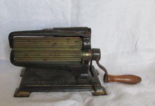 Antique American Machine 1875 Eagle Fluter Crimper Fluting Cast Iron Tabletop photo