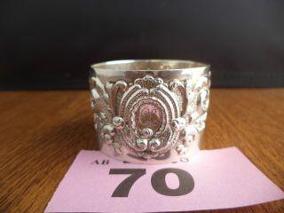 1900 / London / Josiah Williams - Heavy Arts & Crafts Solid Silver Napkin Ring photo